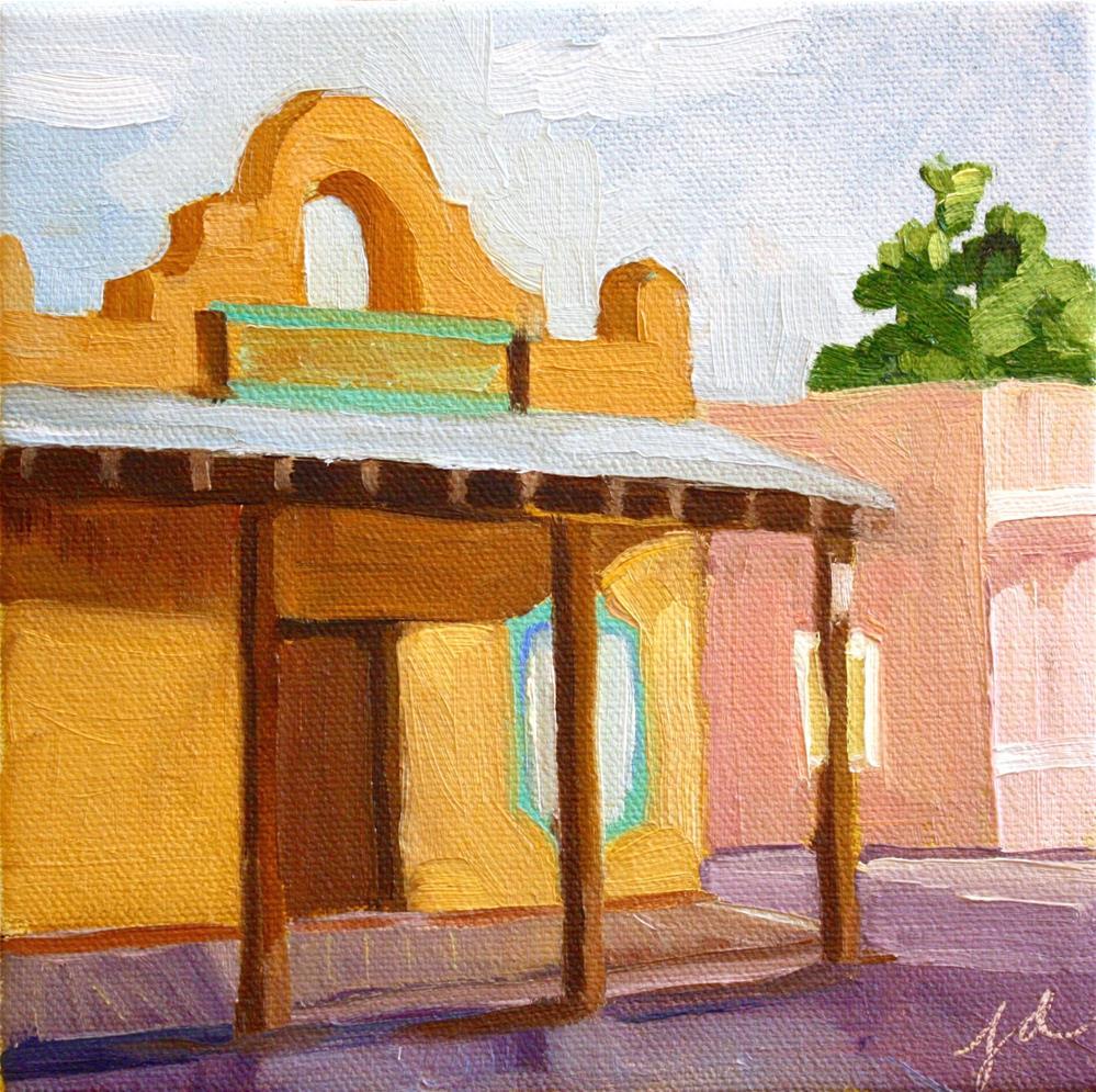 """El Patio"" original fine art by Jessie Dodington"
