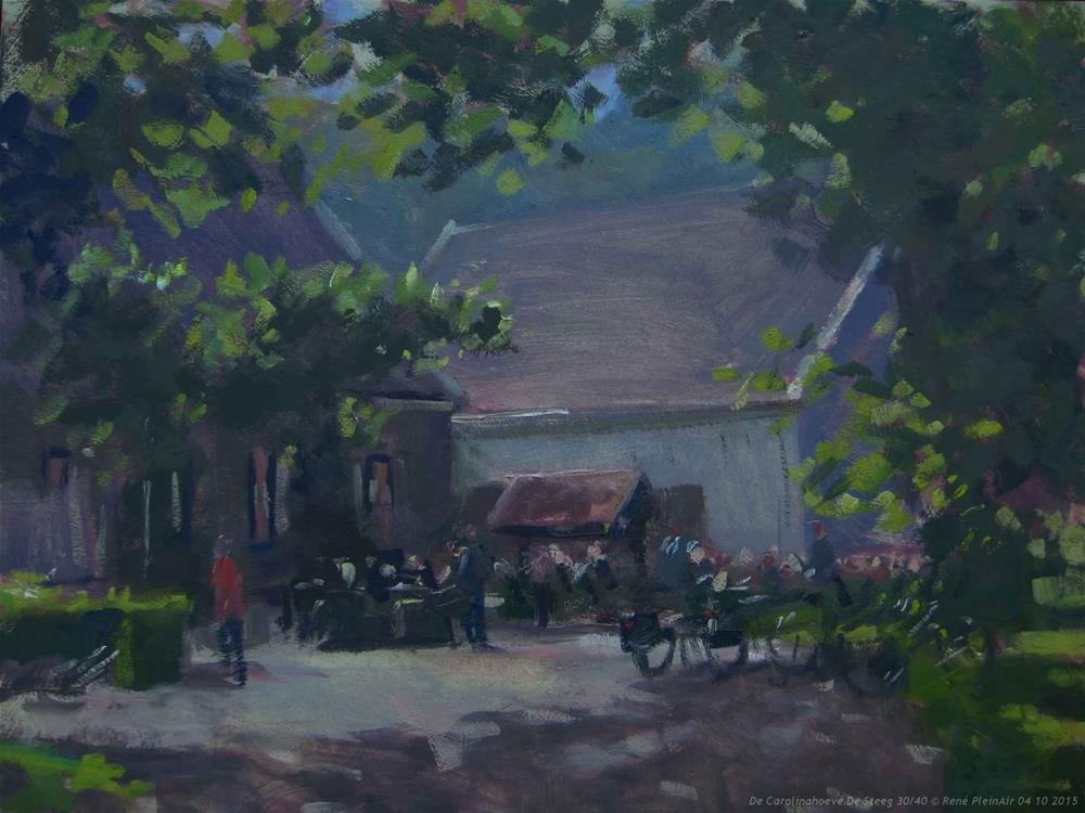 """De Carolinahoeve De Steeg The Netherlands"" original fine art by René PleinAir"