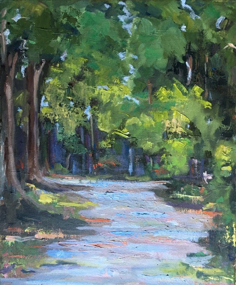 """Through the Woods"" original fine art by Wanda Lowery"