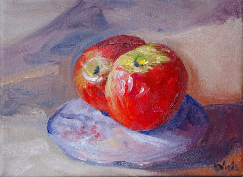 """Louvre-worthy Apple"" original fine art by Helen Viebrock Hamel"