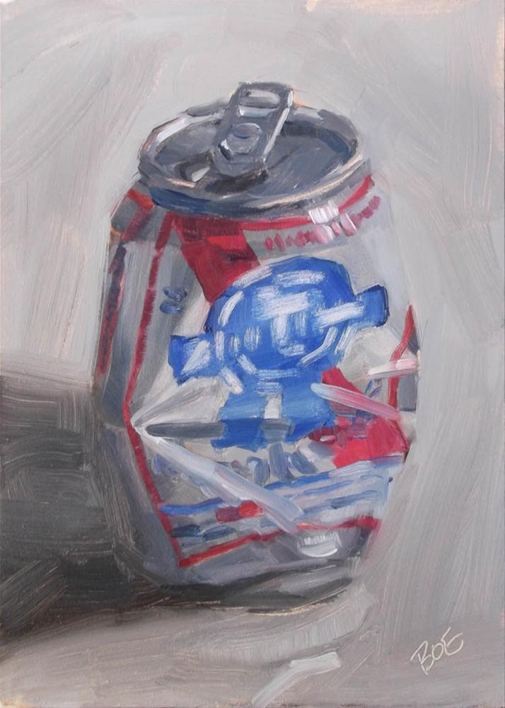 """PBR Can"" original fine art by Karen Boe"