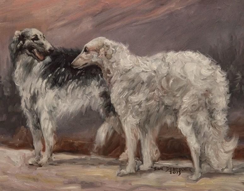 """""""Borzoi"""" original fine art by Sue Deutscher"""