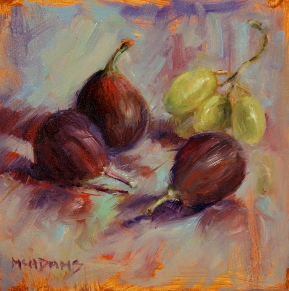 """Figs and Green Grapes"" original fine art by Phyllis McAdams"