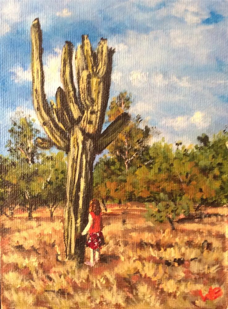"""Admiring the Giant"" original fine art by wendy black"