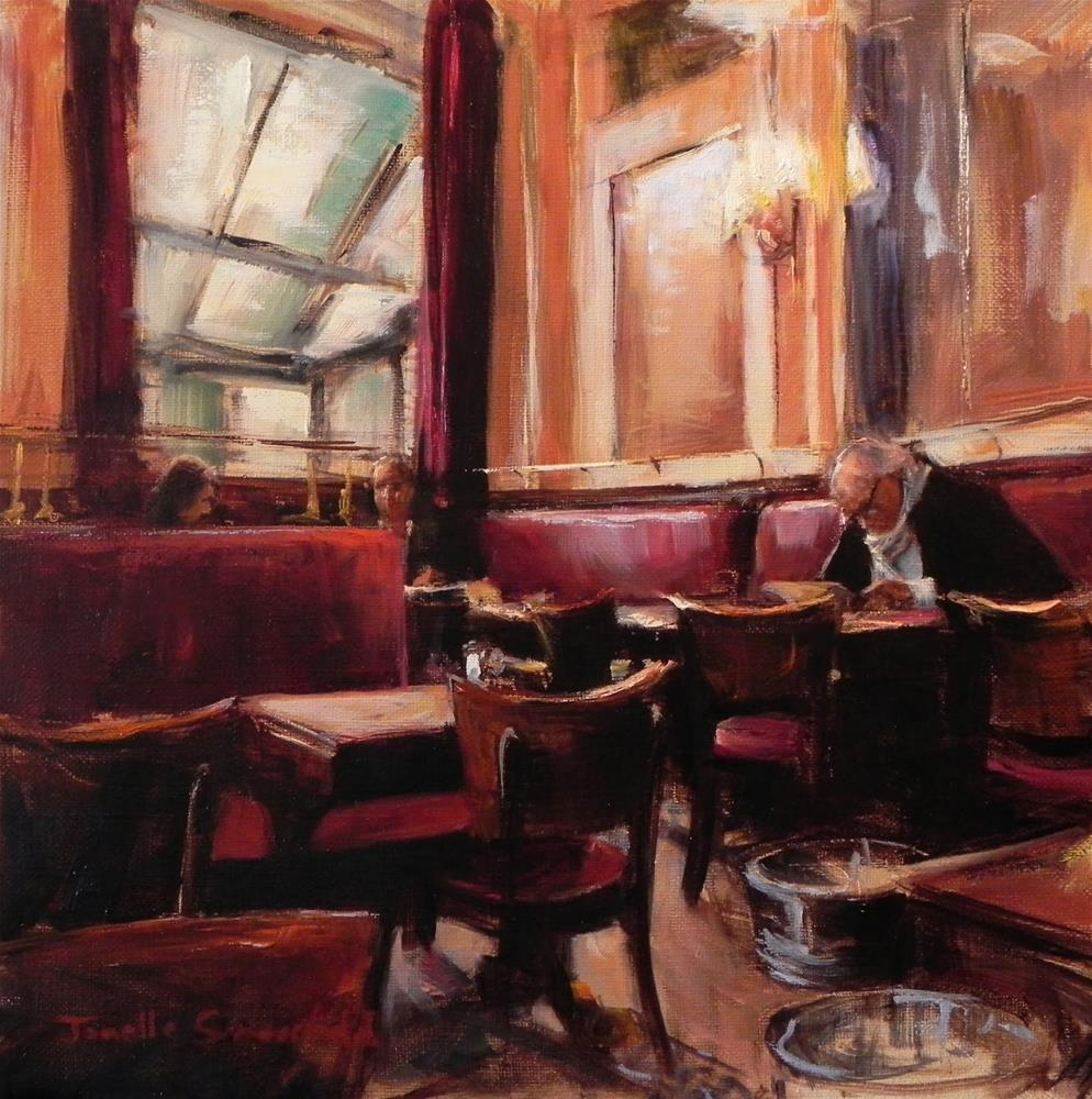 """Breakfast at Les Deux Magots"" original fine art by Jonelle Summerfield"
