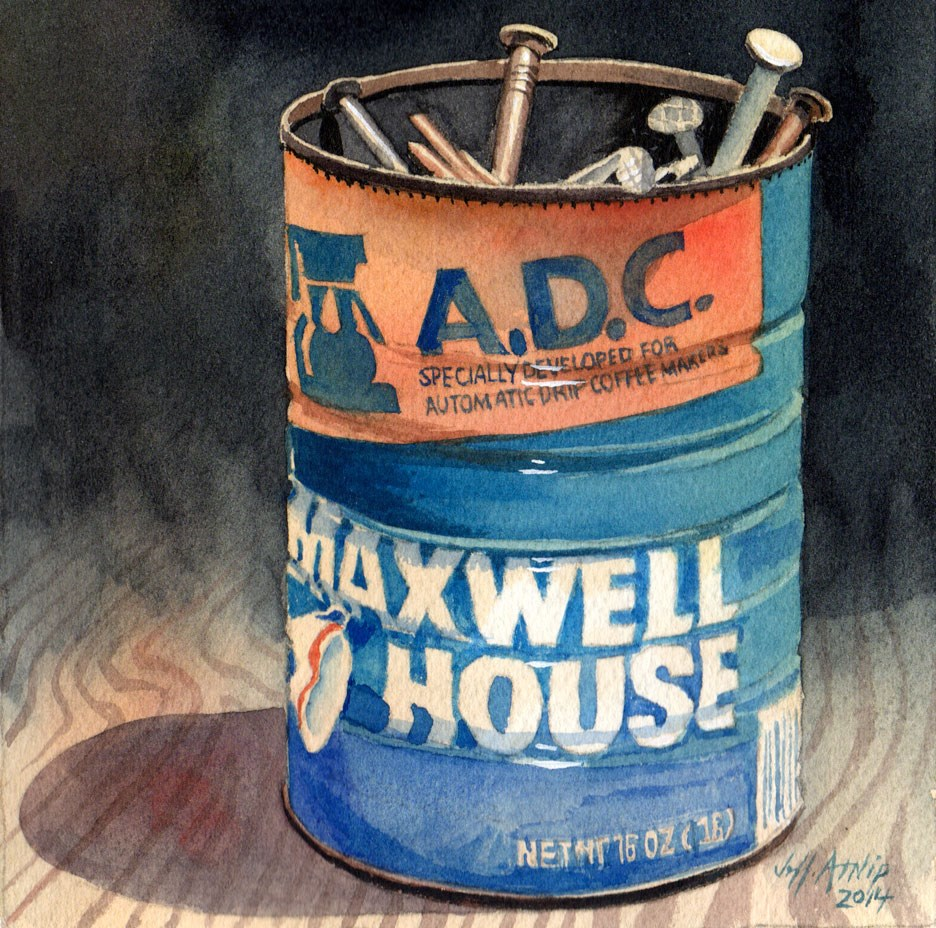 """Can Of Nails"" original fine art by Jeff Atnip"