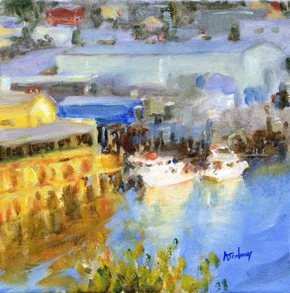 """Noyo Harbor, Sundown"" original fine art by alicia tredway"