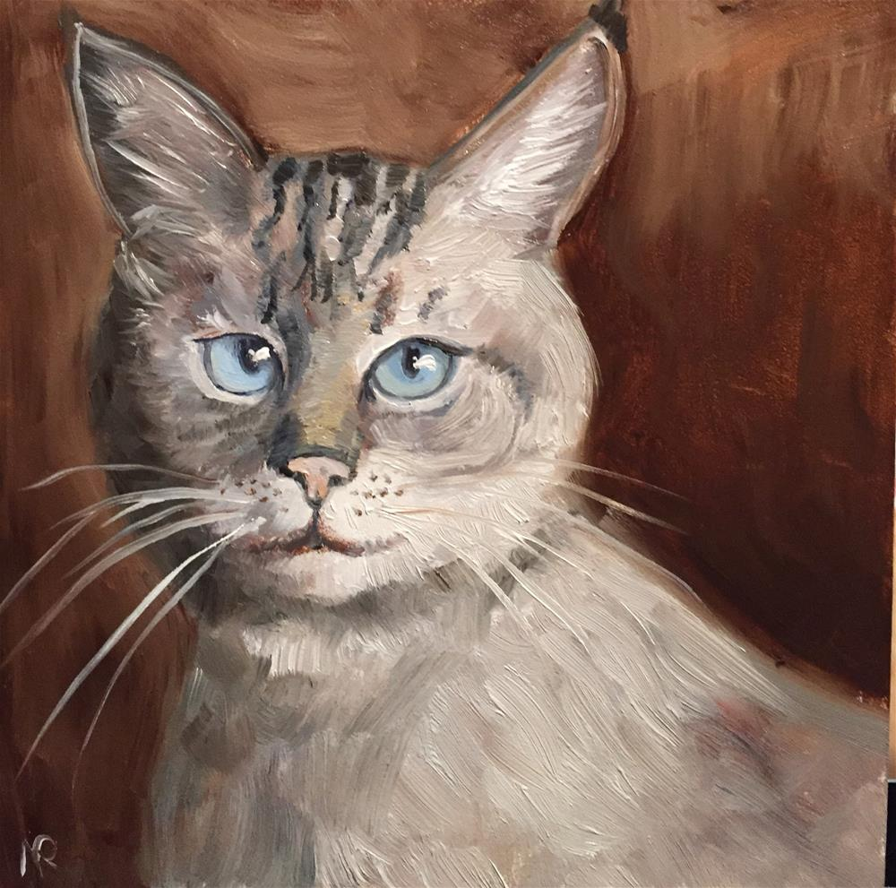 """A blue-eyed beauty"" original fine art by Natasha Ramras"