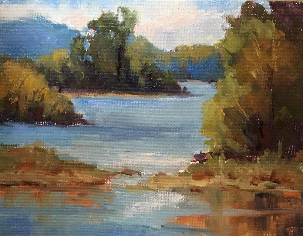 """On the River"" original fine art by Victoria  Biedron"
