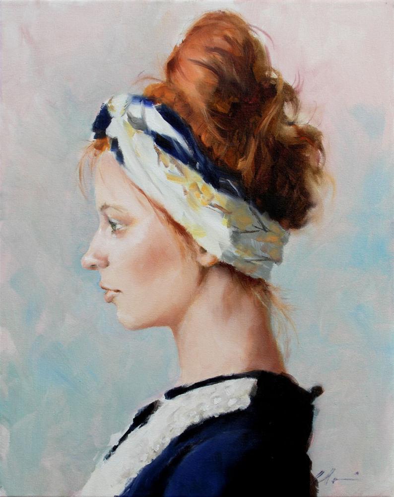"""Butterly Scarf"" original fine art by Clair Hartmann"