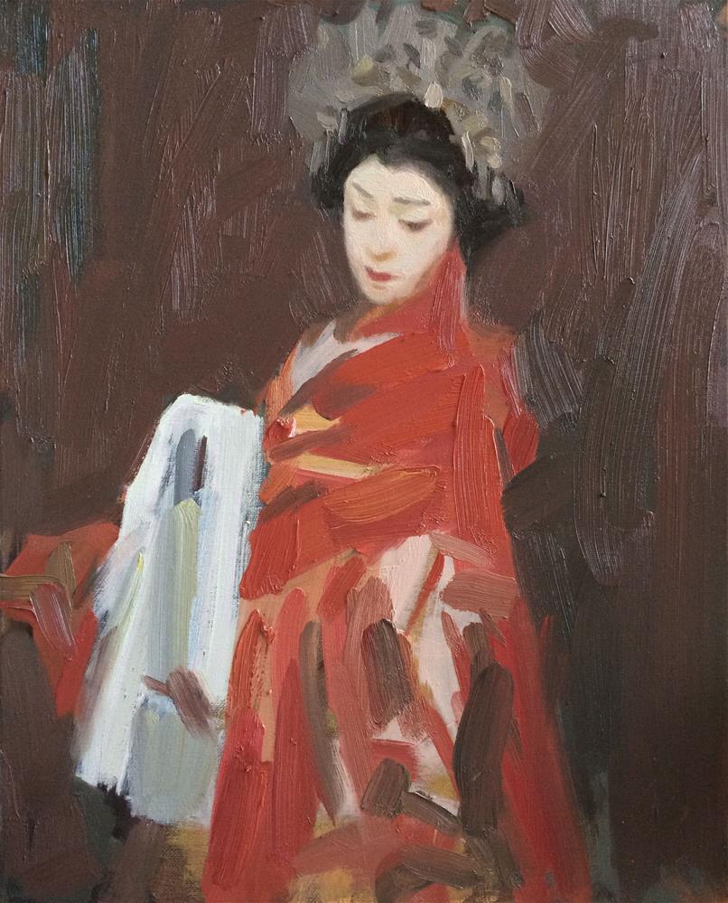 """Kabuki"" original fine art by Yuehua He"