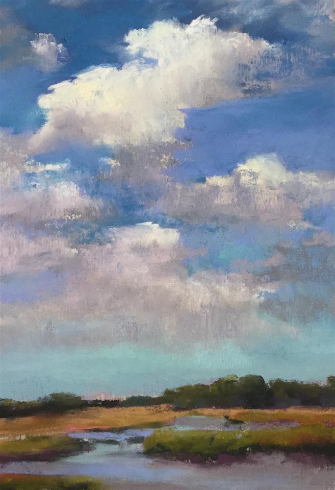 """On a clear day"" original fine art by Jan Hutchinson"