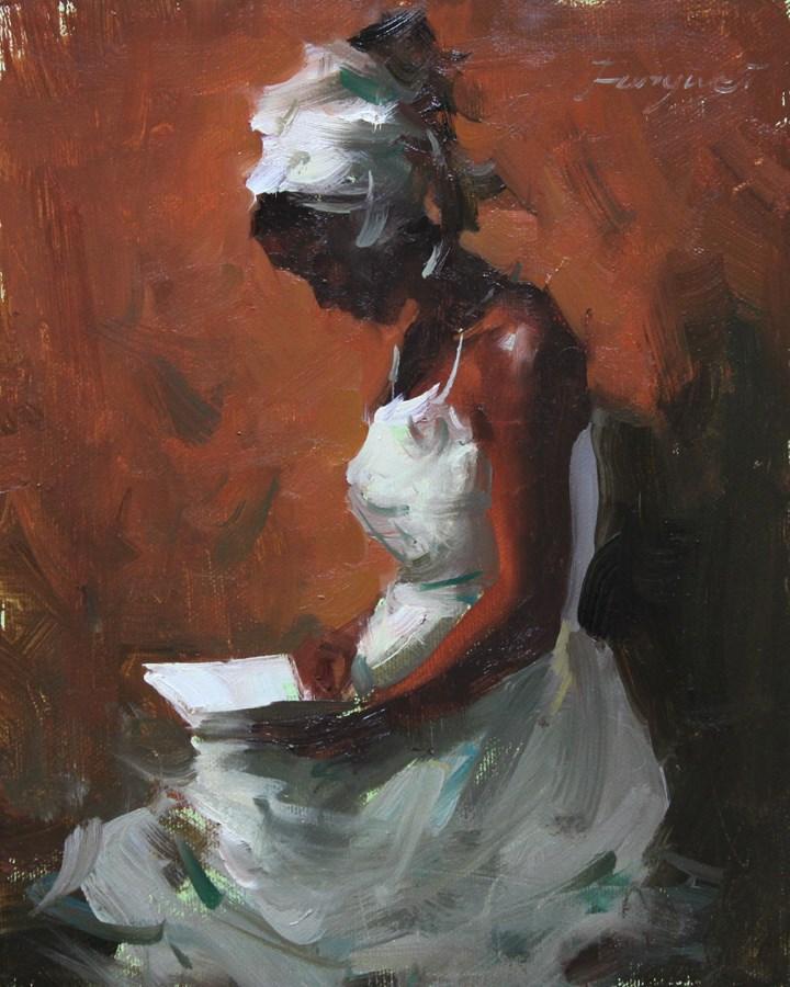 """""""Black Beauty"""" original fine art by Fongwei Liu"""