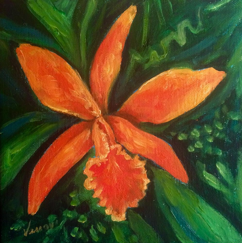 """Orchid 4"" original fine art by Valerie Vescovi"