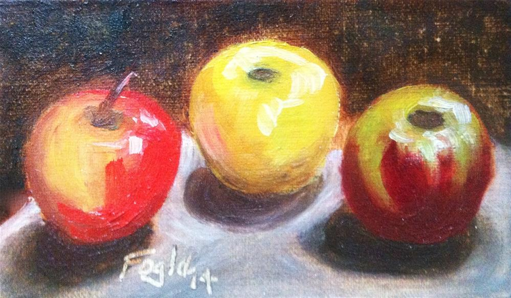 """Three Little Apples"" original fine art by Rachel Fogle"