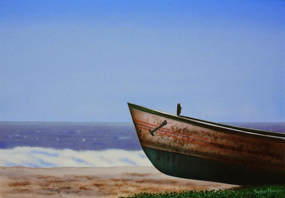 """Lost at Sea"" original fine art by Fred Schollmeyer"