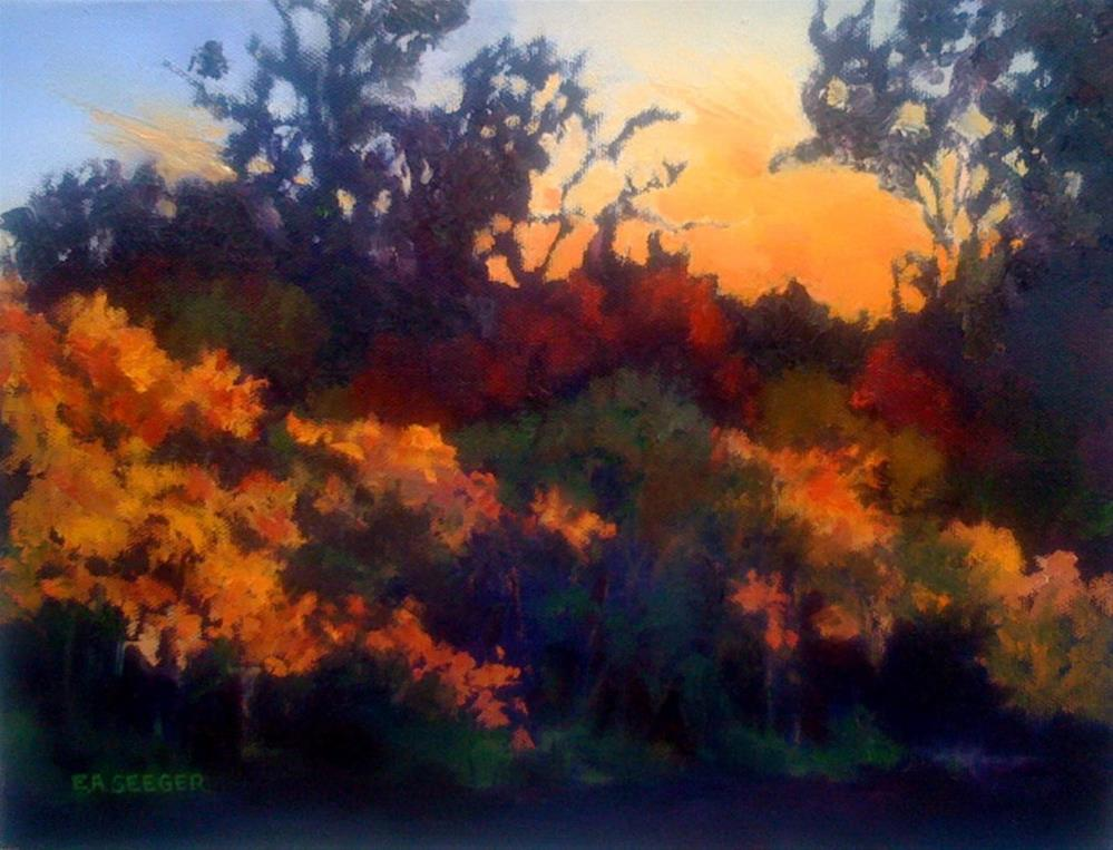 """Dog Park Sunset"" original fine art by Elisabeth Seeger"