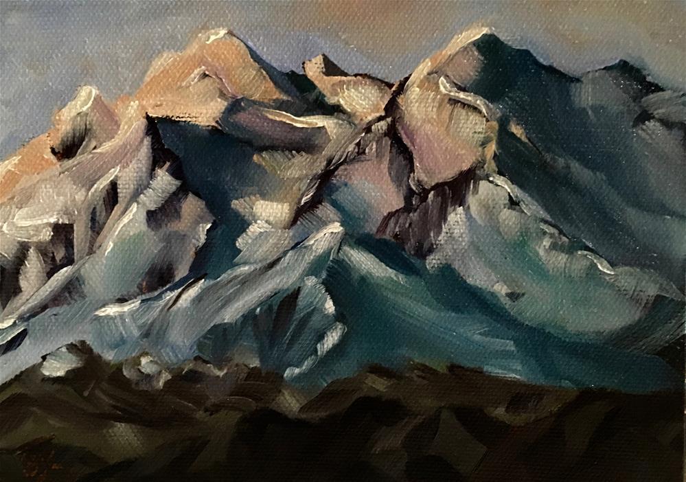 """Denali"" original fine art by Bobbie Cook"