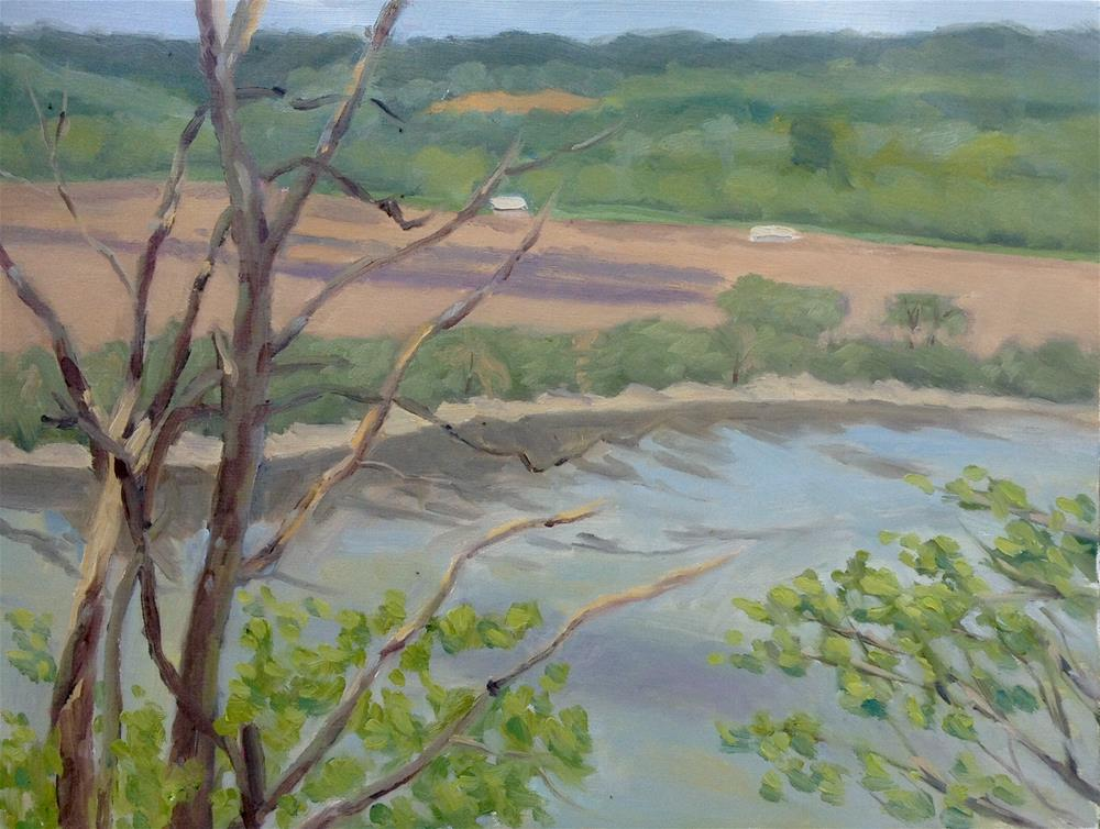 """Danforth Bluffs en Plein air"" original fine art by Daniel Fishback"