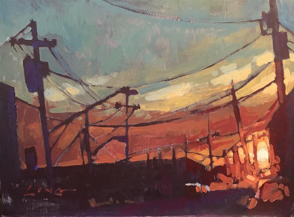 """""""St. Claude Sunset"""" original fine art by Chris Long"""