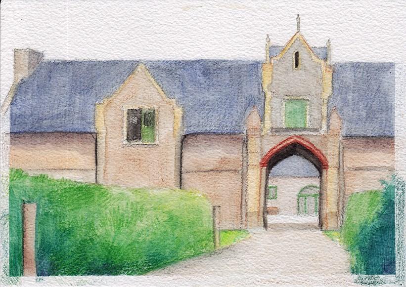 """Not Quite Quarr Abbey"" original fine art by J M Needham"