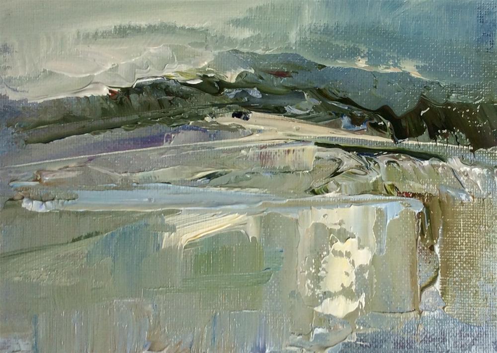"""""""Estuary after rain"""" original fine art by Anne Wood"""