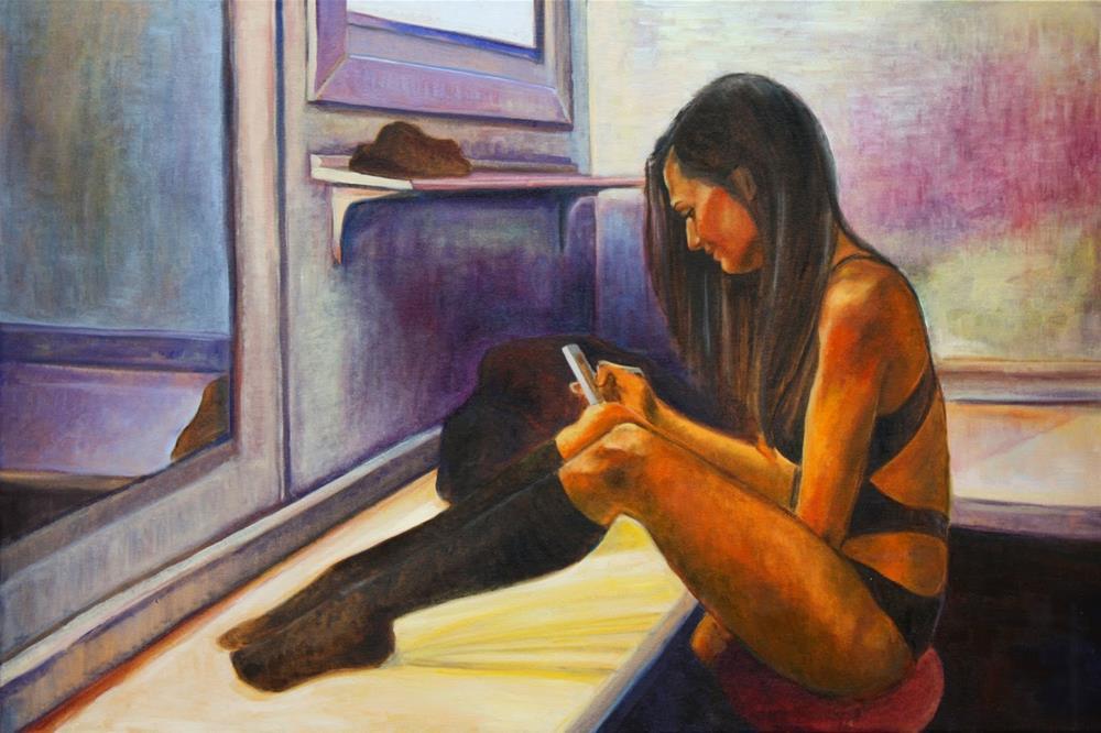 """""""On break"""" original fine art by Hilary J. England"""