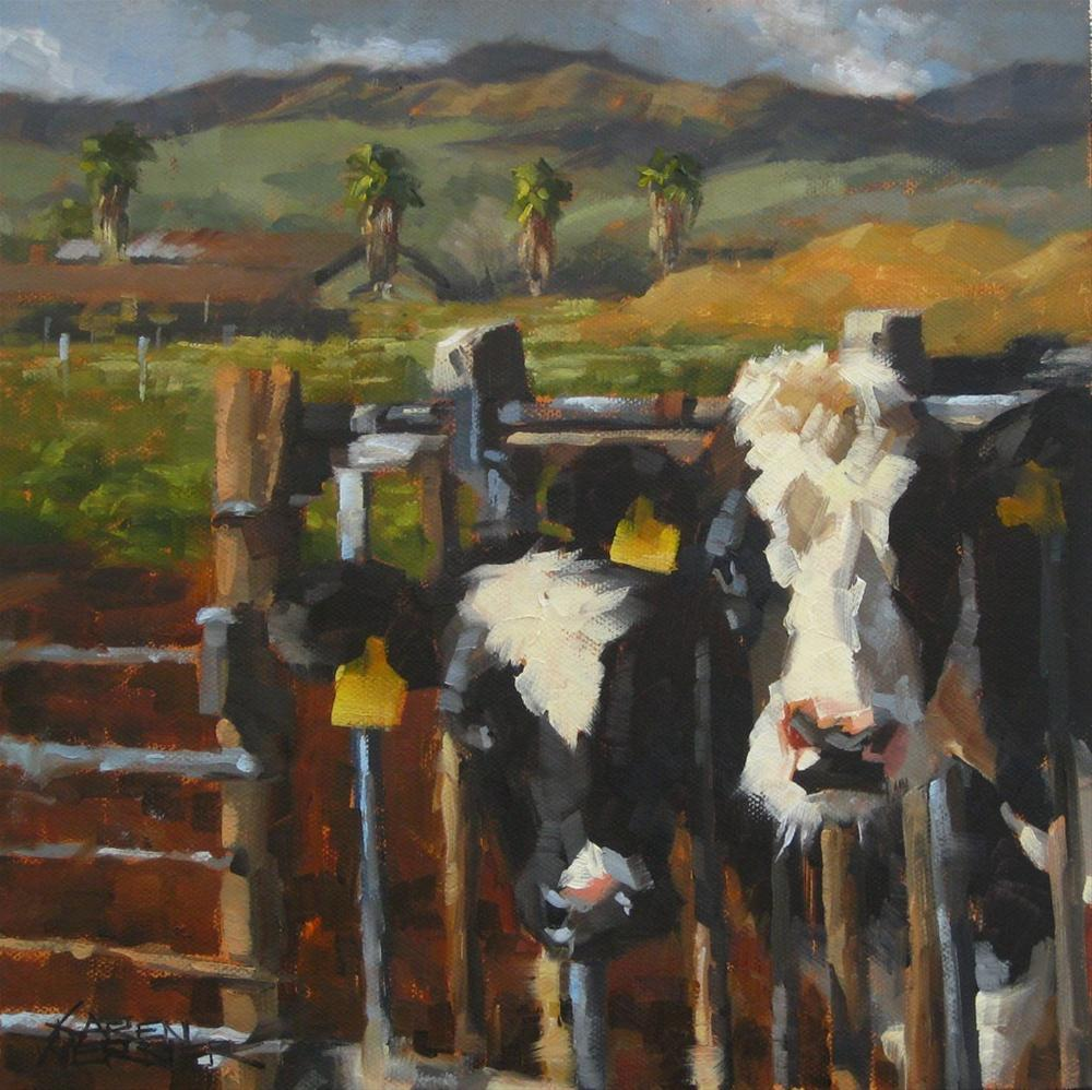 """California Girls"" original fine art by Karen Werner"
