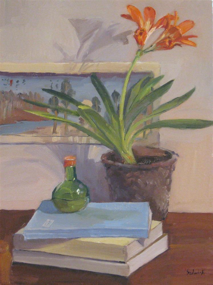 """""""One Dollar Auction: Kaffir Lily"""" original fine art by Sarah Sedwick"""