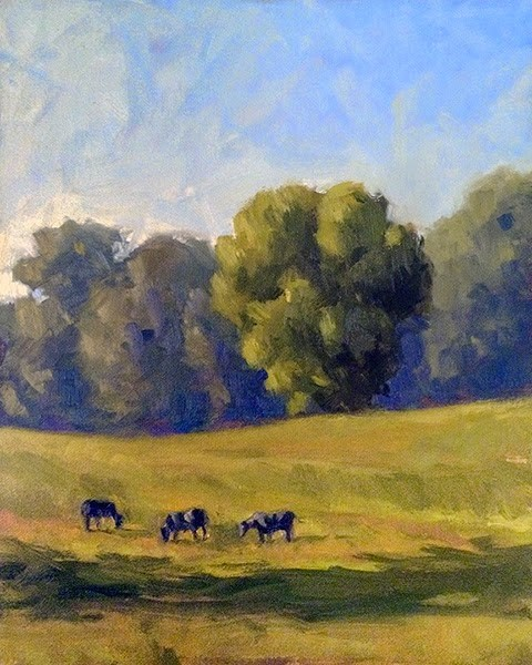 """Chattanooga Valley Field II"" original fine art by Adam Houston"