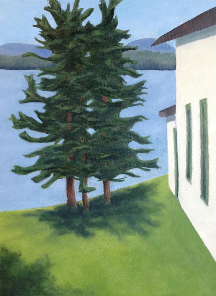 """""""Three Pines"""" original fine art by Karen Collins"""