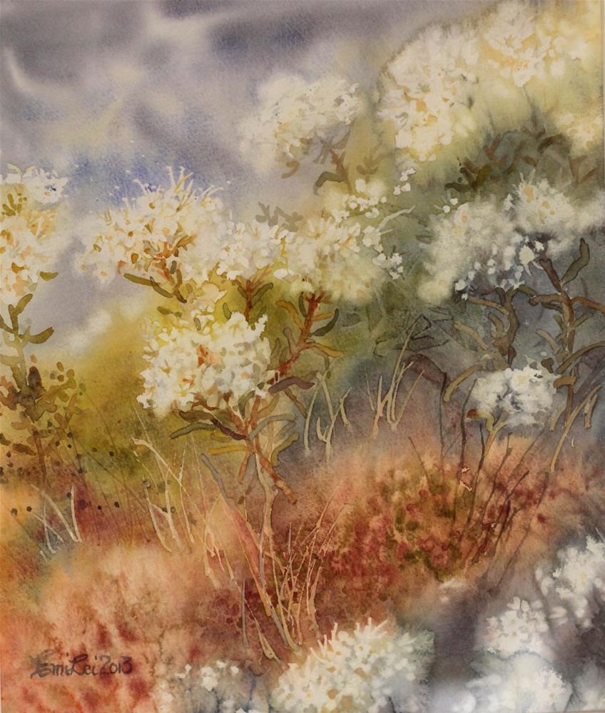 """""""Wild Rosemaries"""" original fine art by Emilia Leinonen"""