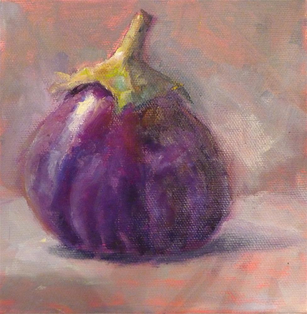 """Eggplant"" original fine art by Carol Josefiak"