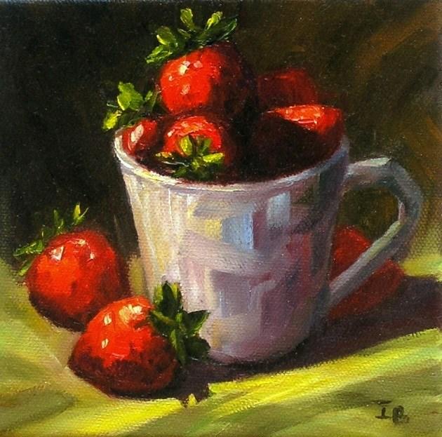 """Simply Strawberry"" original fine art by Irina Beskina"