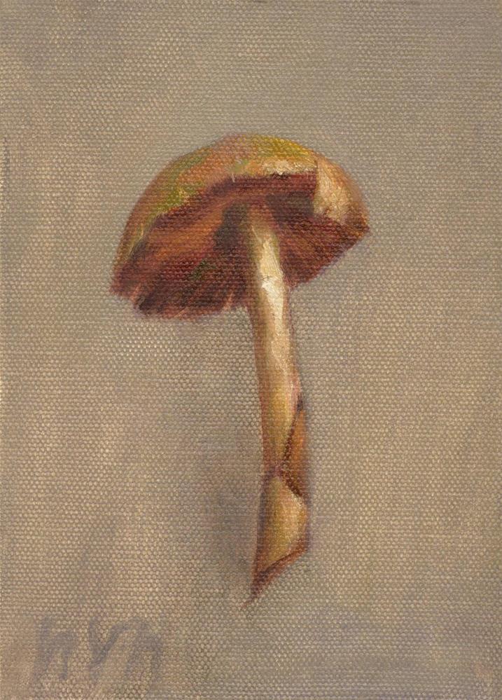 """""""Mushroom"""" original fine art by Yuehua He"""