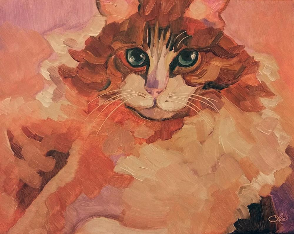 """Celebrity Cat"" original fine art by Leni Tarleton"