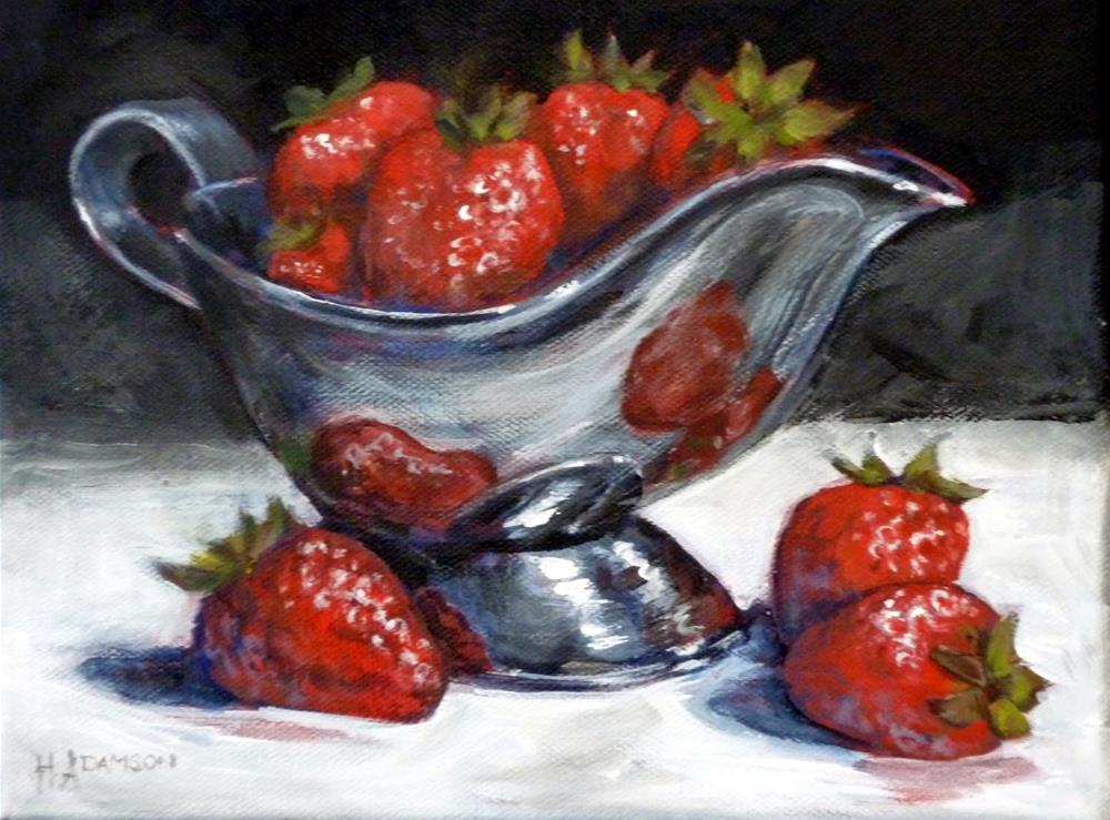 """Summer Berries"" original fine art by Helene Adamson"