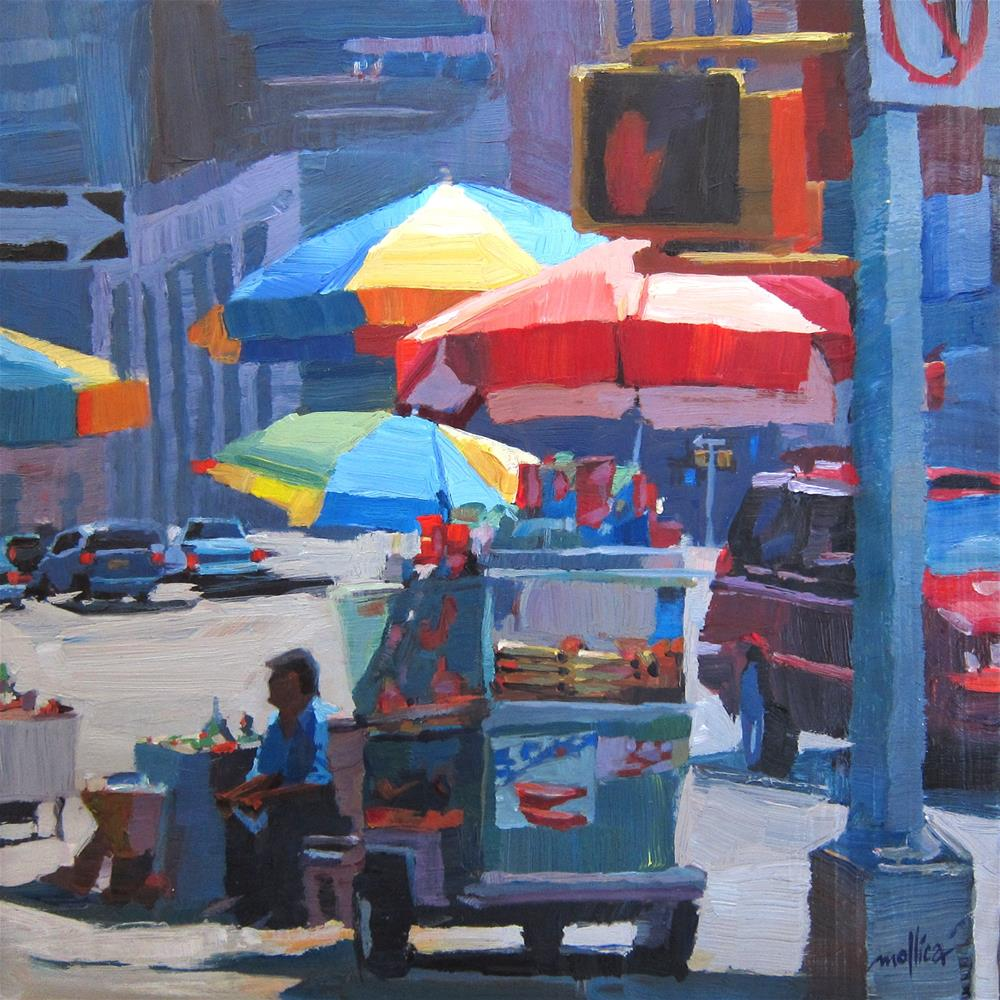"""Canal Street Vendor"" original fine art by Patti Mollica"