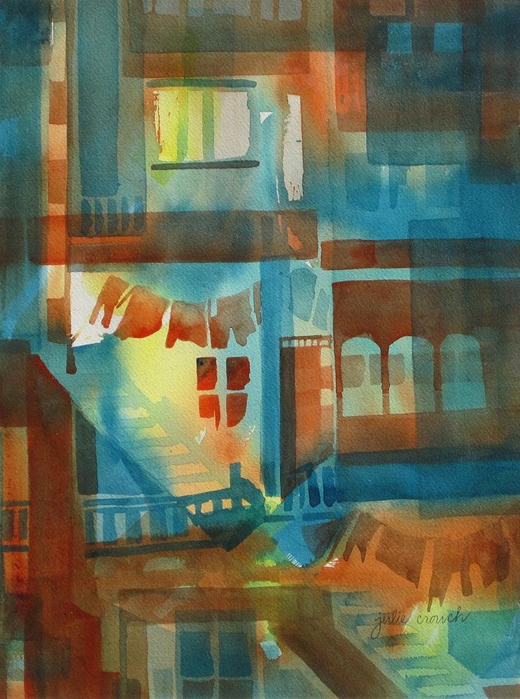 """""""Tenement"""" original fine art by Julie Crouch"""