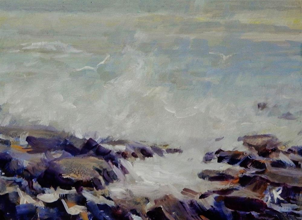 """""""Winter Coast"""" original fine art by J Kelsey"""