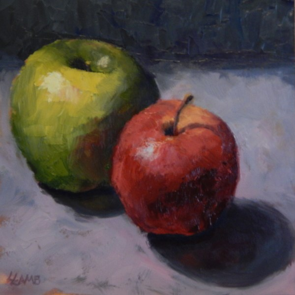 """Dos Manzanas"" original fine art by Lori L. Lamb"