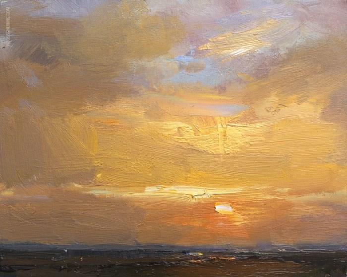 """Golden Sunrise"" original fine art by Roos Schuring"