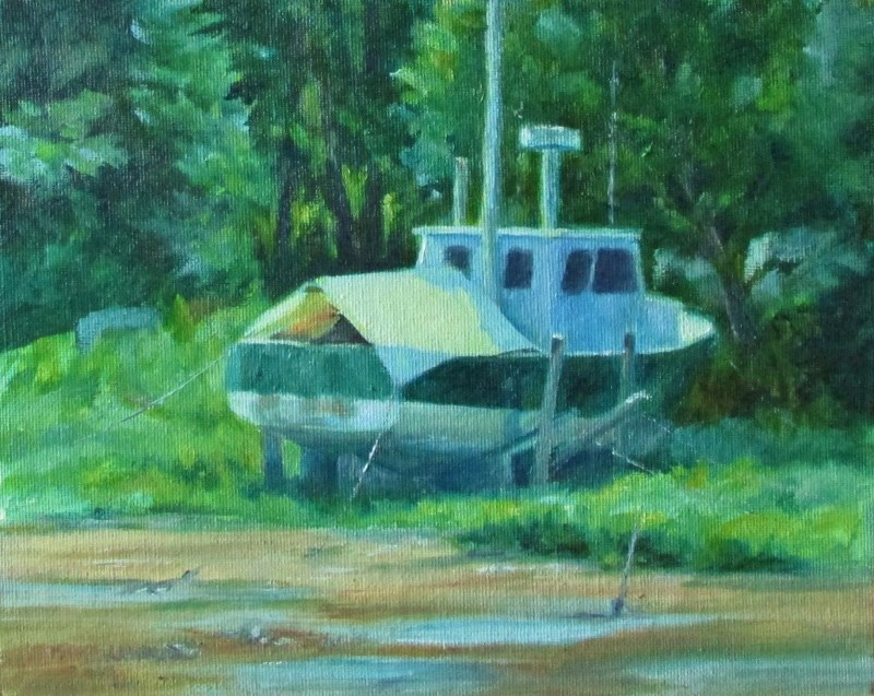 """Awaiting the Water"" original fine art by Christine Lewis"
