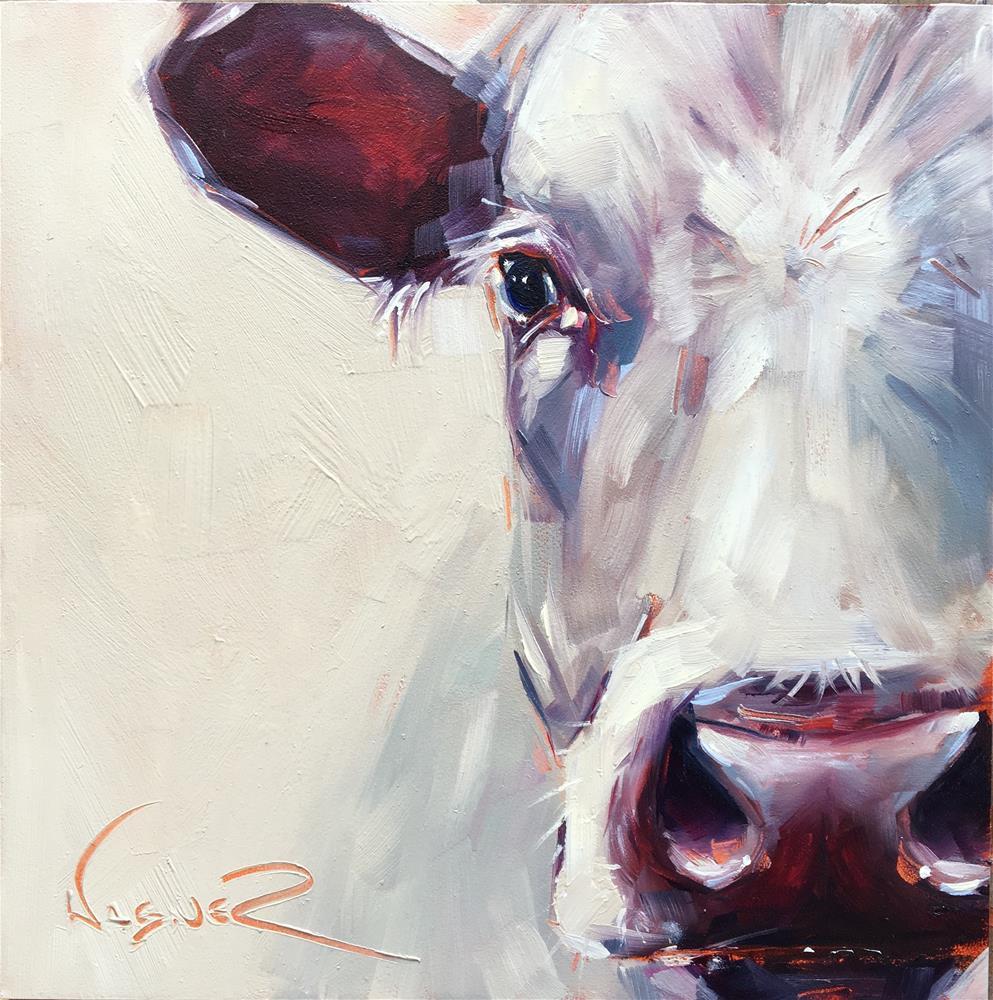 """""""White"""" original fine art by Olga Wagner"""