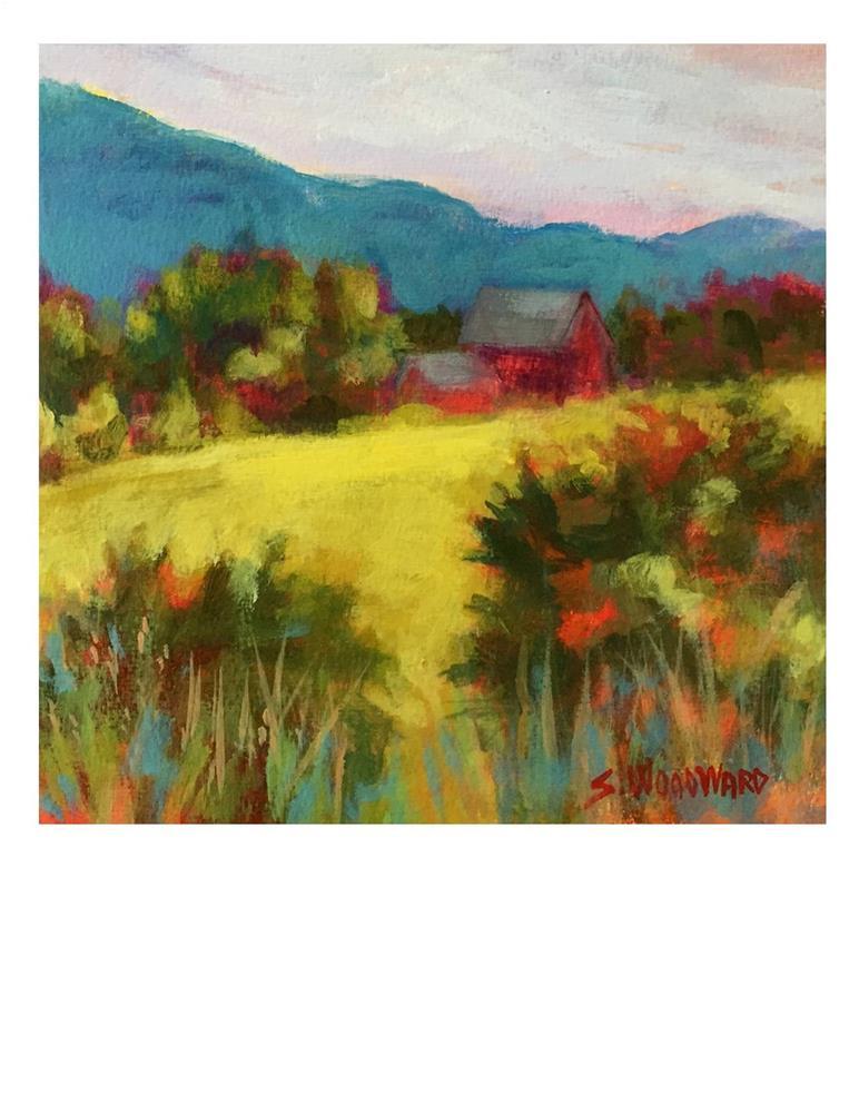 """Red Barn"" original fine art by Suzanne Woodward"