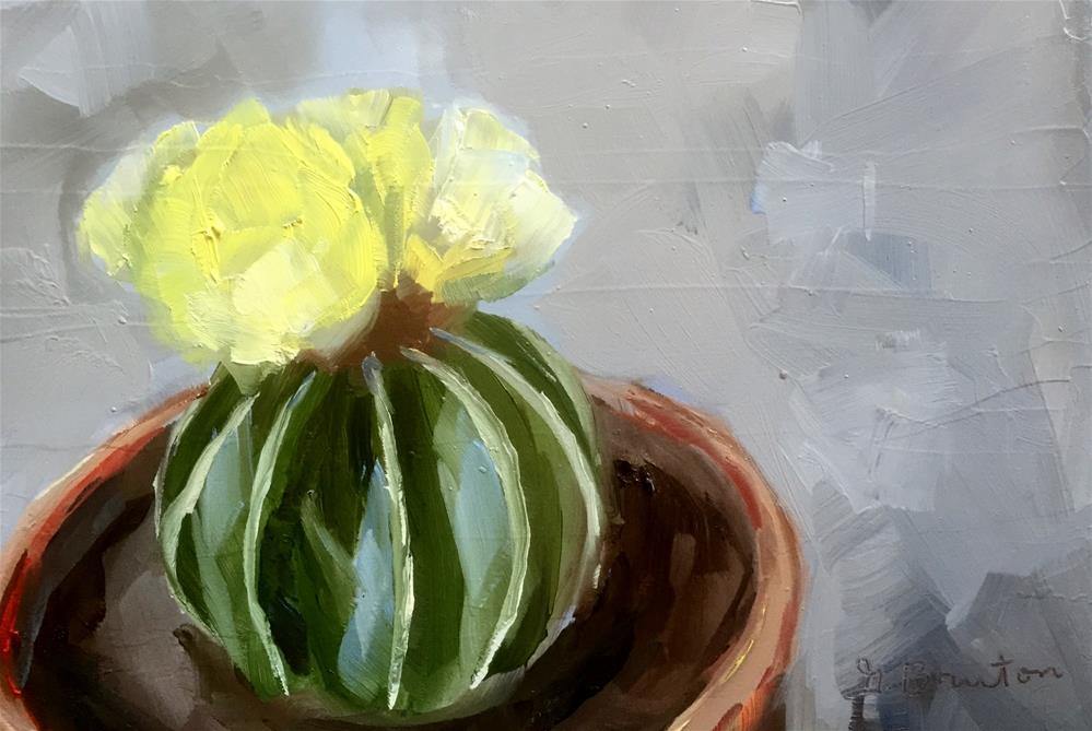 """Cactus Bloom"" original fine art by Gary Bruton"