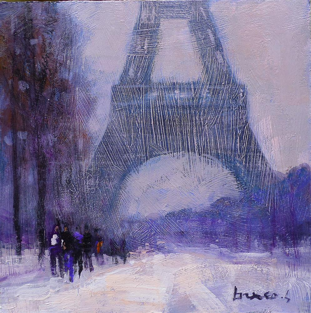 """SnowParis"" original fine art by salvatore greco"
