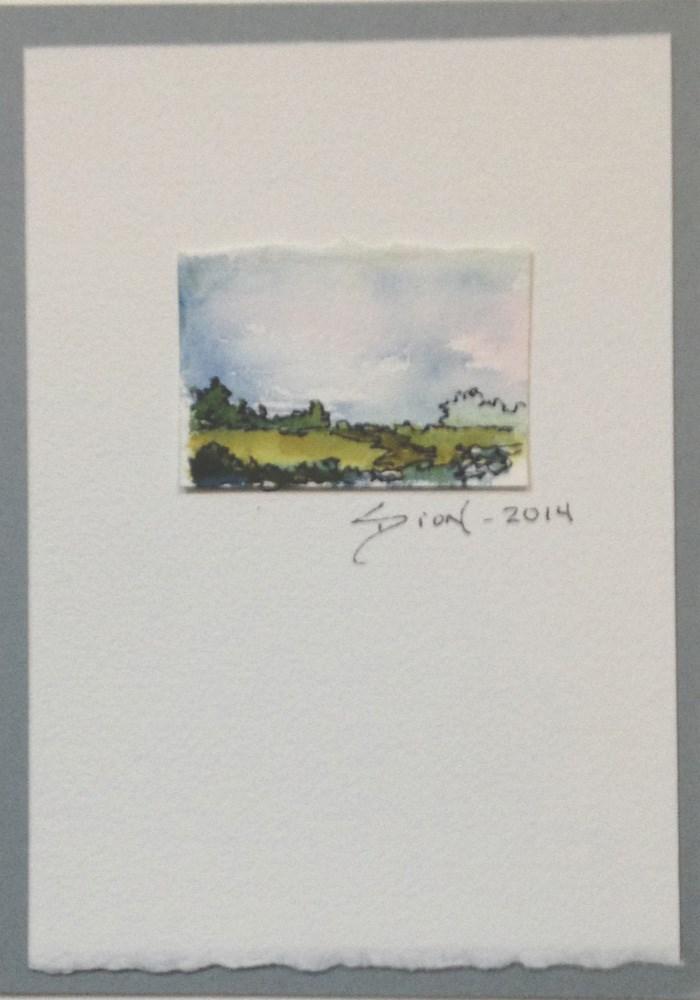 """Miniature Landscape #13"" original fine art by Sue Dion"