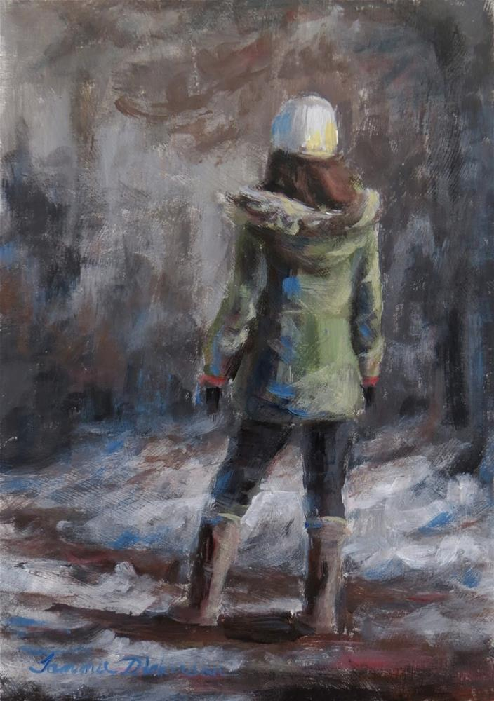 """Walking in the Snow"" original fine art by Tammie Dickerson"