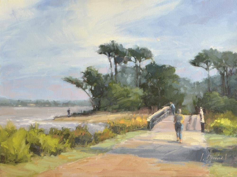"""Beach Bridge - Georgia Coast"" original fine art by Laurel Daniel"